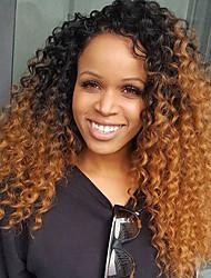 Parrucche di capelli umane frontali del merletto di colore di ombre curling con capelli del bambino 180% densità parrucca brasiliana del
