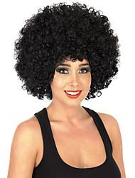 Парики из искусственных волос Без шапочки-основы Средний Кудрявые Черный как смоль Парик в афро-американском стиле Для темнокожих женщин
