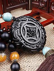 Diy auto pendentifs ébène dispyyosspp décoration bénisse le pendentif voiture bonne chance&Ornements en bois