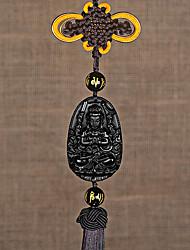 DIY Automotive Car Pendant Obsidian Jade Patron Saint Car Pendant & Ornaments Jade Crystal