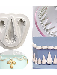 Royal Icing Shell Border Silicone Mould Wedding Cake Mold Fondant Cupcake Moulds Chocolate Pastry Tools Random Color