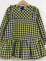Robe Fille de Damier Coton