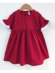 Robe Fille de Rayé Coton