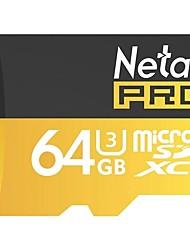 Cartão de memória do telefone móvel TT (micro-sd) cartão de memória da câmera de monitoramento do cartão de memória netac 64g uhs-i i3