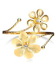 Lureme Gold Swirl Upper Flower Arm Cuff Fashion Armlet Armband Bangle Bracelet