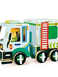 Quebra-cabeças Kit Faça Você Mesmo Quebra-Cabeças 3D Blocos de construção Brinquedos Faça Você Mesmo Maquina de Escavar Madeira Natural