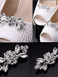 1Pair Rhinestone Crystal Wedding Bridal Diamante Crystal Sparkle Shoe Clips