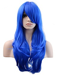 Mujer Pelucas sintéticas Sin Tapa Largo Ondulado Natural Azul Real Peluca natural Las pelucas del traje