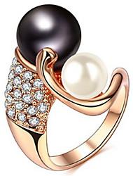 Жен. Классические кольца Кристалл Искусственный жемчуг Базовый дизайн Любовь Мода По заказу покупателя Симпатичные Стиль Pоскошные