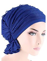 Для женщин Шапки Широкополая шляпа,Все сезоны Хлопок Однотонный Чистый цвет