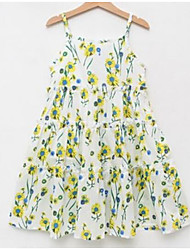 Robe Fille de Fleur Coton