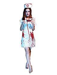 Einteilig/Kleid Cosplay Kostüme Haloween Figuren Skelett/Totenkopf Zombie Cosplay Fest/Feiertage Halloween Kostüme Vintage Kleider Mützen