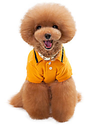 Cachorro Camiseta Roupas para Cães Fantasias Bandeira Nacional Laranja Cinzento Azul