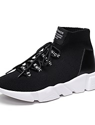 Men's Athletic Shoe Comfort Light Sole Fall Winter Breathable Mesh PU Spandex Fabric Cycling Shoe Athletic Outdoor Lace-up Flat Heel