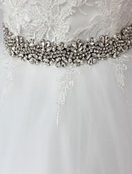 Satin/ Tulle Mariage Occasion spéciale Anniversaire Fête/Soirée Ceinture-Strass Imitation Perle Appliques Strass Imitation Perle Appliques