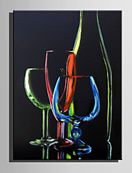 Mini Size E-HOME Oil painting Modern Color Glass Pure Hand Draw Frameless Decorative Painting