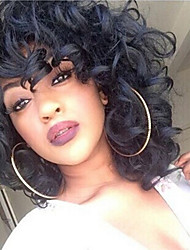 Kinky Curly Wigs Black Color Afro Wig Short Wigs for Black Women High Temperature Fiber Synthetic Hair