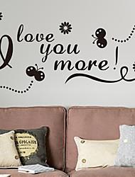 Слова и фразы Романтика Мода Наклейки Простые наклейки Декоративные наклейки на стены материал Украшение дома Наклейка на стену
