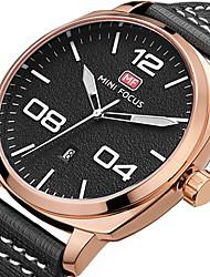 MINI FOCUS Men's Sport Fashion Watches Wristwatch Luxury Waterproof Calendar Quartz Genuine Leather Band Clock Relogio Masculino Hombre