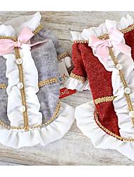 Chien Robe Vêtements pour Chien Décontracté / Quotidien Princesse Gris Rouge