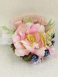 """Fleurs de mariage Petit bouquet de fleurs au poignet Cérémonie de mariage Occasion spéciale Métal 2.76""""(Env.7cm)"""
