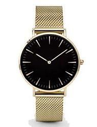Hombre Reloj de Vestir Reloj de Moda Reloj Casual Reloj de Pulsera Chino Cuarzo Metal Banda Encanto Minimalista Negro Plata Dorado Oro