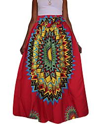 Для женщин Сексуальные платья Винтаж Богемный На выход На каждый день Праздник Макси Подол,Качеля Сексуальные платья С принтом Весна Осень