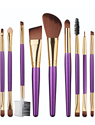 9pcs Makeup Brush Set Blush Brush Eyeshadow Brush Lip Brush Brow Brush Eyeliner Brush Eyelash Brush Sponge Applicator Foundation Brush