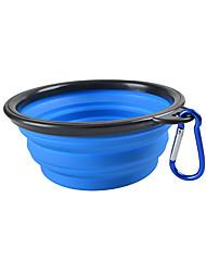 Chat Chien Bols & Bouteilles d'eau Animaux de Compagnie Bols & alimentation Portable Pliable Jaune Rouge Vert Bleu Rose