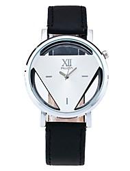 Men's Dress Watch Skeleton Watch Fashion Watch Wrist watch Unique Creative Watch Casual Watch Chinese Quartz PU Band Casual Elegant Black