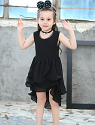 Girl's Cotton Fashion And Lovely Dovetail Lace Sleeveless  Pure Cotton Lining Princess Dress