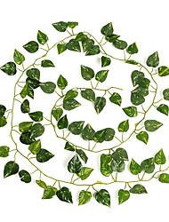 12 Piece/ Set 2 m Artificial Leaf Garland Plants Vine Fake Foliage Flowers Home Decor Plastic Artificial Flower Rattan Evergreen