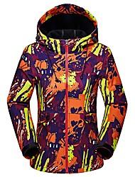Damen Softshelljacke für Wanderer warm halten Atmungsaktiv Wasserdicht Jacke für Rennen Camping & Wandern Klettern Winter Herbst L XL XXL