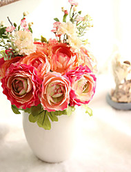 1 Branch Plastic Lotus Plants Tabletop Flower Artificial Flowers Home Decoration Wedding Supplies