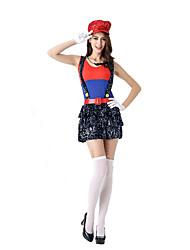 Costumes de Cosplay Bal Masqué Princesse Fête d'Octobre/Bière Cosplay Fête / Célébration Déguisement d'Halloween AutresJupe Gants Chapeau