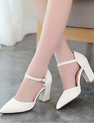 Damen Schuhe PU Sommer Komfort Sandalen Mit Für Normal Weiß Schwarz Rosa