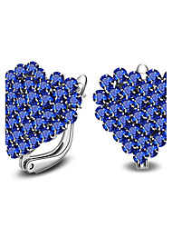 Women's Stud Earrings Crystal Fashion Simple Style Sterling Silver Crystal Heart Jewelry For Casual Office & Career