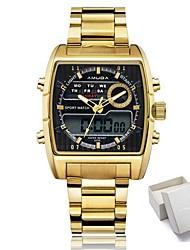 Муж. Жен. Спортивные часы Армейские часы электронные часы Японский Кварцевый LED Календарь Секундомер Защита от влаги Светящийся