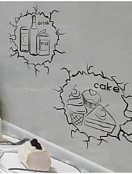 Продукты питания Наклейки Простые наклейки Наклейки на холодильник материал Украшение дома Наклейка на стену