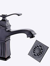 Conjunto Central Válvula Cerámica Negro , Baño grifo del fregadero