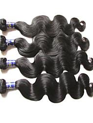 самое лучшее перуанское виргинское волнение волос тела 4bundles 400g серия естественный цвет необработанные первоначально человеческие