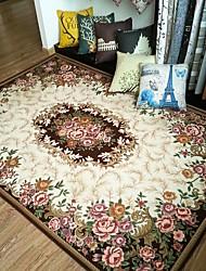 Fashion Floral Anti-skid Jacquard Carpet for Home Living Room/Dining Bedroom Mat Rug/Brown /Red/Green/Navy Blue/Beige