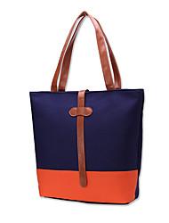 Women's Casual Fashion High-grade Contrast Color The Large Capacity Handbag Tote