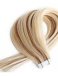 бесшовные человеческие волосы невидимая лента в наращивании человеческих волос смешанная блондинка цвета doulbe сторона утка кожи 20шт