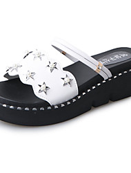 Women's Shoes PU Spring Summer Gladiator Comfort Sandals Flat Heel Open Toe For Dress Khaki Black White