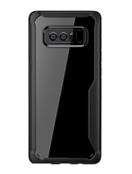кукурузный случай для Samsung Galaxy Note 8 tpu с прозрачным мягким футляром для ПК