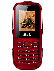 e & l k6900 1,8-дюймовый сотовый телефон (ip68 2000mah bluetooth fm flashlight dual sim card)