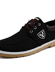 Hombre Zapatillas de deporte Zapatos De Buceo Primavera Verano Otoño Invierno Tela Casual Fruncido Tacón Plano Negro Azul Oscuro Plano