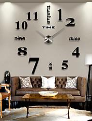 Moderno/Contemporáneo Campestre Casual Oficina/ Negocios Otros Tema Jardín Tema Clásico Romance Reloj de pared,Redondo Acero Inoxidable