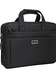 15.6 inch Waterproof Nylon Computer Laptop Bags High Capacity Shockproof Bags Briefcase Shoulder Black